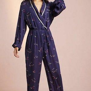 Anthropologie Floreat Pajama Jumpsuit Bird MP